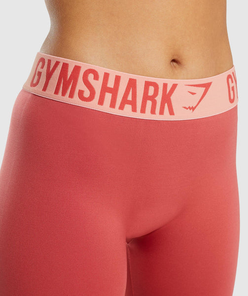 Gymshark Fit Cropped Leggings - Orange 4