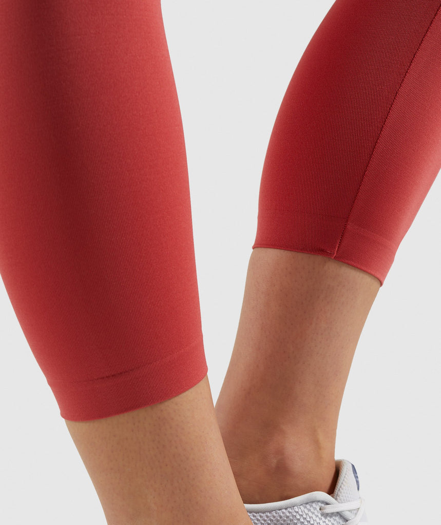 Gymshark Fit Cropped Leggings - Orange 6