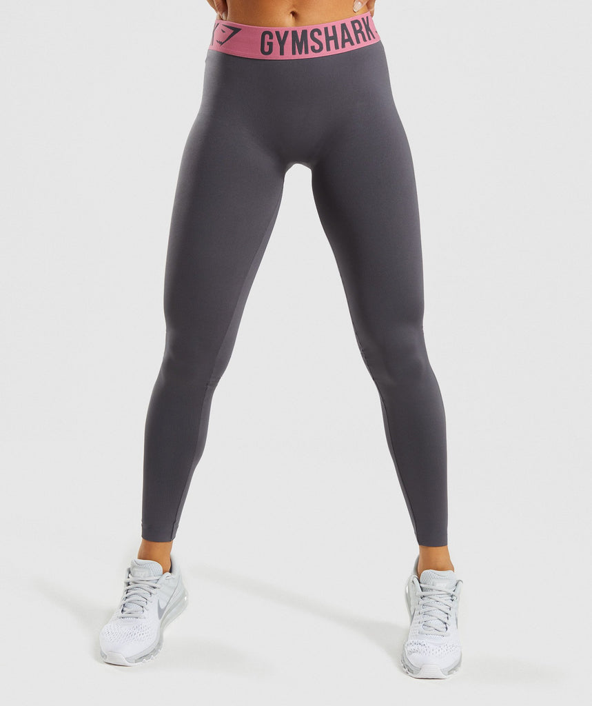 d60242c924 Gymshark Fit Leggings - Charcoal Dusky Pink 4