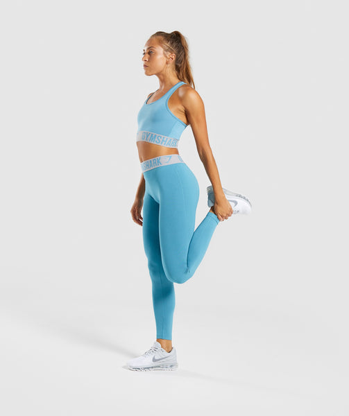 Gymshark Fit Leggings - Dusky Teal/Light Grey 3
