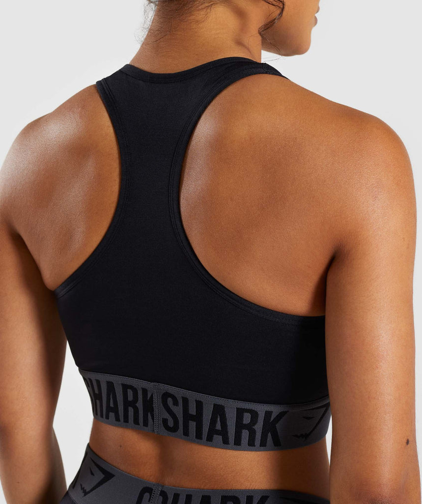 Gymshark Fit Sports Bra - Black 6