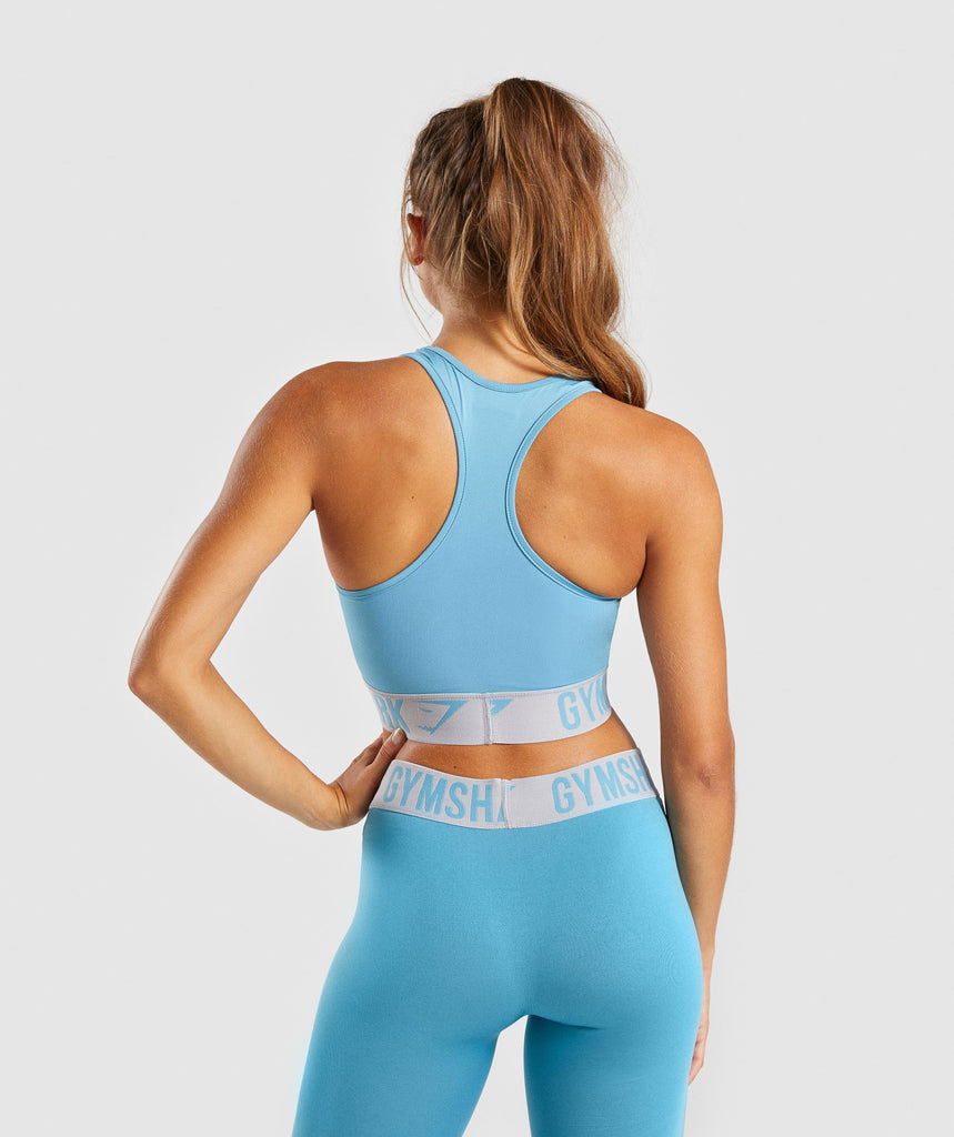 Gymshark Fit Sports Bra - Dusky Teal/Light Grey 2