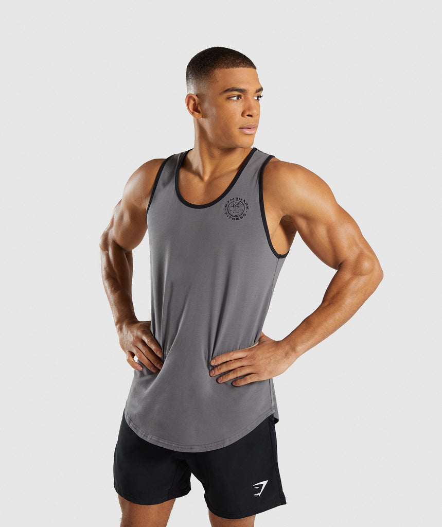 99a7c6f2283902 Gymshark Legacy Luxe Tank - Smokey Grey 1