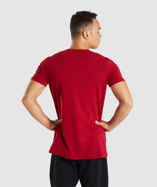 Gymshark Legacy T-Shirt - Full Red 1