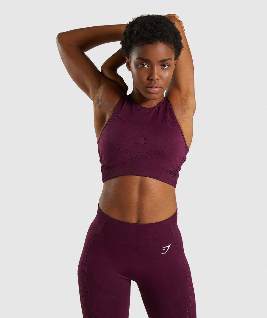 Gymshark Flawless Knit Sports Bra - Ruby 1