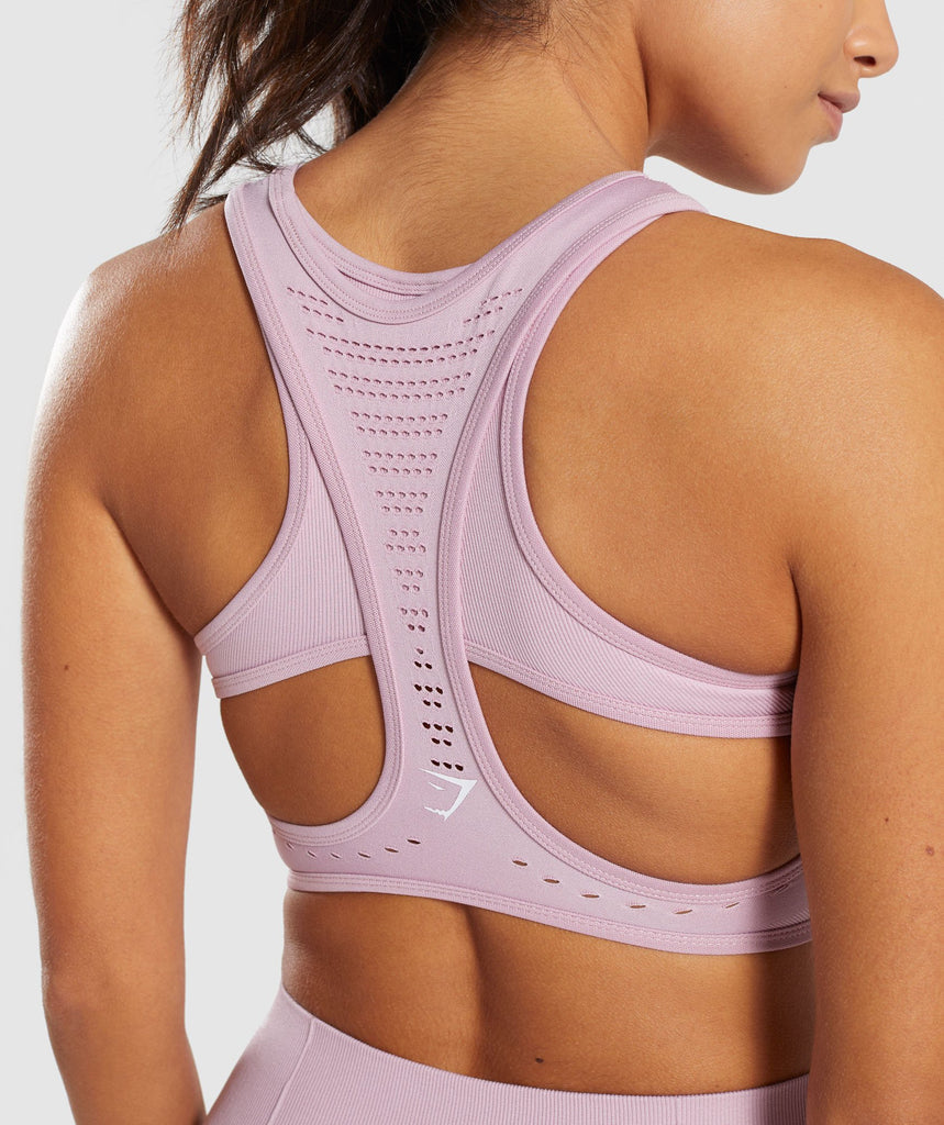 Gymshark Flawless Knit Sports Bra - Washed Lavender 5