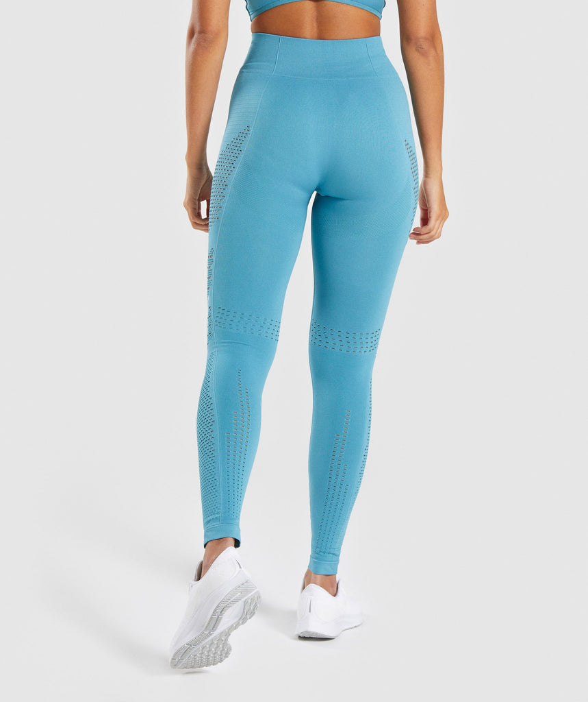 Gymshark Flawless Knit Tights - Sea Blue 2