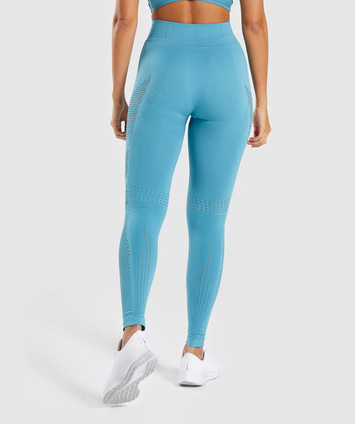 Gymshark Flawless Knit Tights - Sea Blue 1