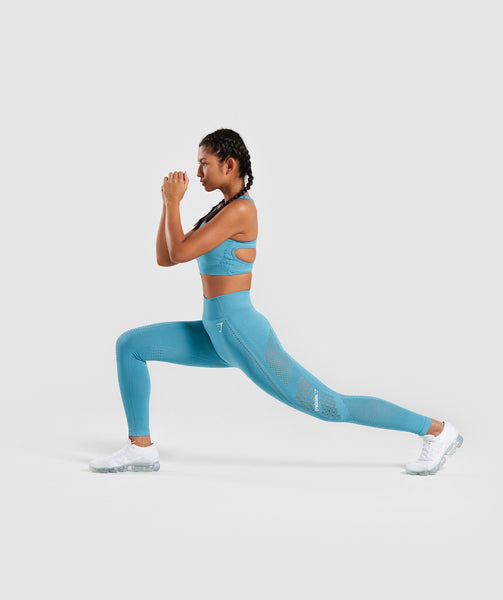 Gymshark Flawless Knit Tights - Teal 4
