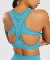 Gymshark Flawless Knit Sports Bra - Teal 11