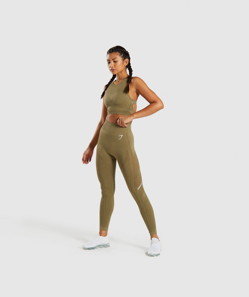 Gymshark Flawless Knit Sports Bra - Khaki 3