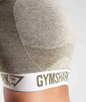 Gymshark Flex Crop Top - Khaki/Sand 11