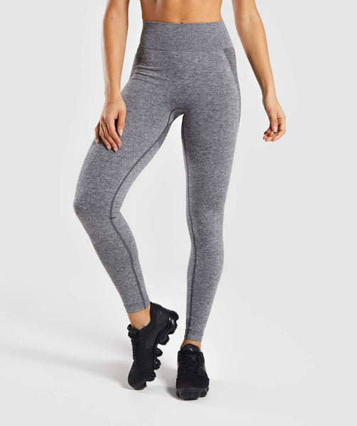 Gymshark Flex High Waisted Leggings - Charcoal Marl/ Dusky Pink 4