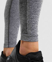 Gymshark Flex High Waisted Leggings - Charcoal Marl/ Dusky Pink 11