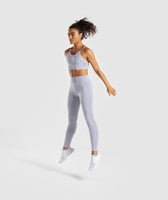 Gymshark Flex High Waisted Leggings - Blue/Grey 10