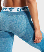 Gymshark Flex Leggings - Deep Teal/Ice Blue 10