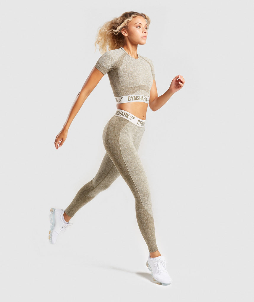 Gymshark Flex Leggings - Khaki/Sand 5