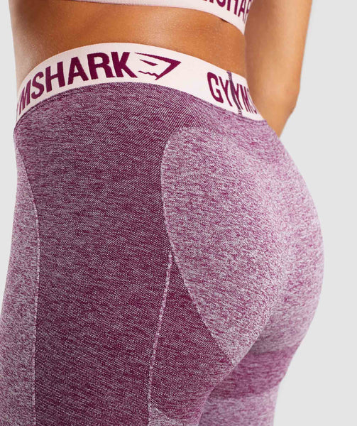 Gymshark Flex Leggings - Dark Ruby Marl/Blush Nude 4