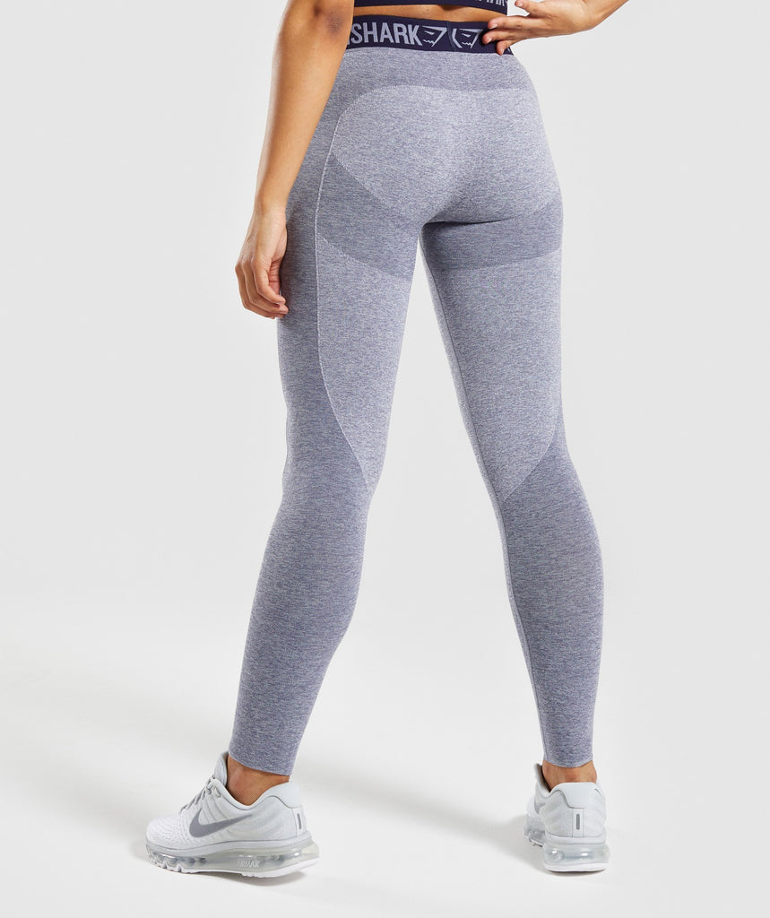 Gymshark Flex Leggings - Steel Blue Marl/Evening Navy Blue 2