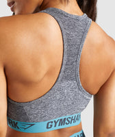 Gymshark Flex Sports Bra - Charcoal Marl/Dusky Teal 12