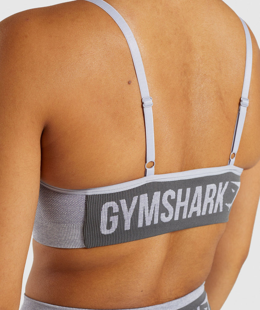 Gymshark Flex Strappy Sports Bra - Blue/Grey 6