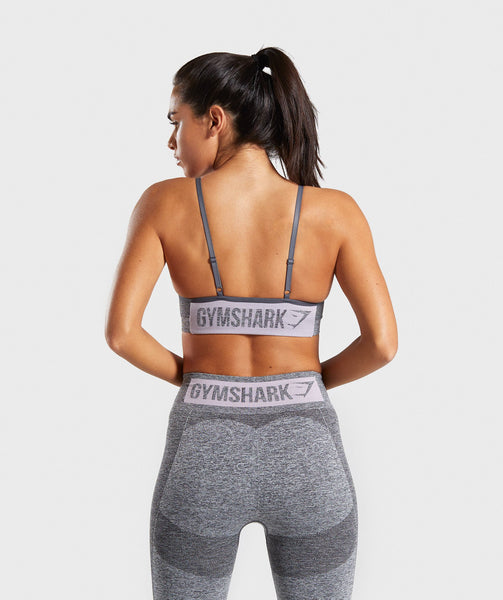 496ae9efdb Gymshark Flex Strappy Sports Bra - Grey Pink 1 ...