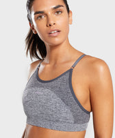 Gymshark Flex Strappy Sports Bra - Grey/Pink 11