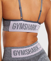 Gymshark Flex Strappy Sports Bra - Grey/Pink 12