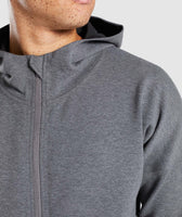 Gymshark Fully Fused Zip Hoodie - Charcoal Marl 12