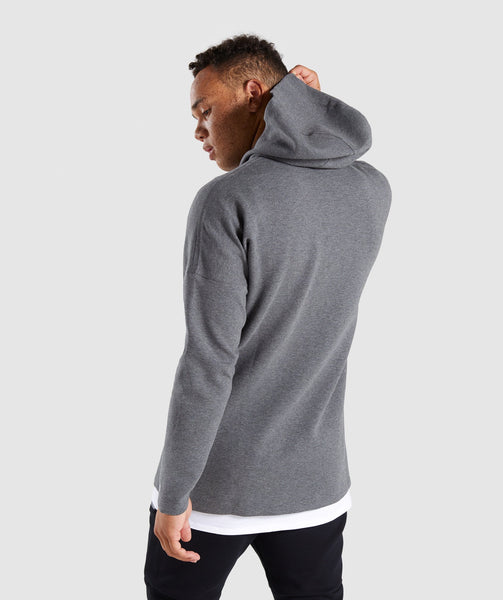 Gymshark Fully Fused Zip Hoodie - Charcoal Marl 1