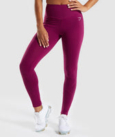 Gymshark Fused Ankle Leggings - Deep Plum 7