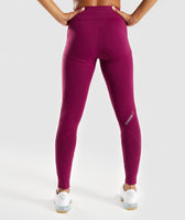 Gymshark Fused Ankle Leggings - Deep Plum 8