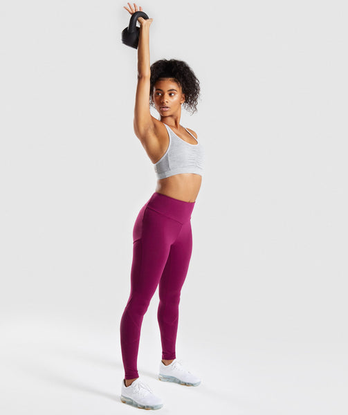 Gymshark Fused Ankle Leggings - Deep Plum 3