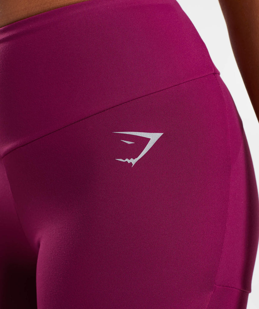 Gymshark Fused Ankle Leggings - Deep Plum 6