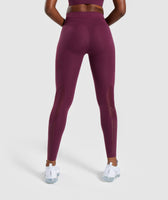 Gymshark Geo Mesh Leggings - Dark Ruby 8
