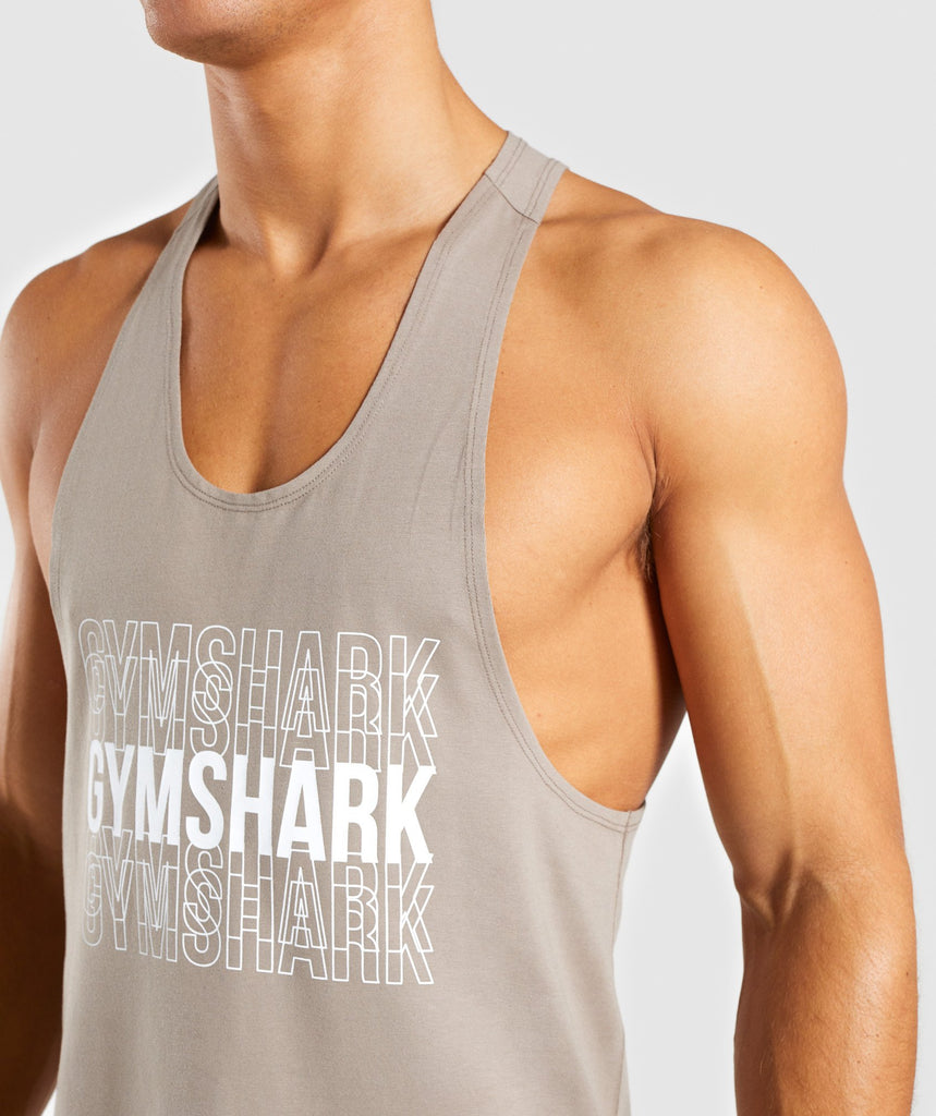 Gymshark Haze Stringer - Driftwood Brown 5