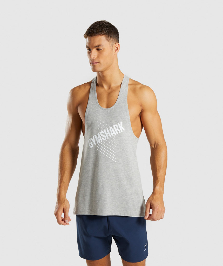 Gymshark Score Stringer - Light Grey Marl 4