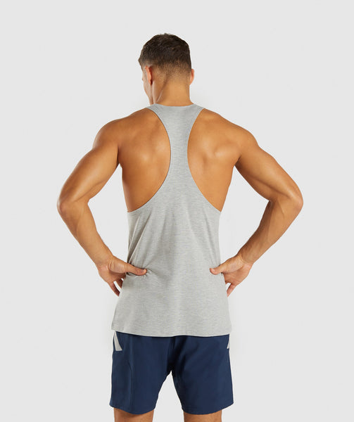 Gymshark Score Stringer - Light Grey Marl 1