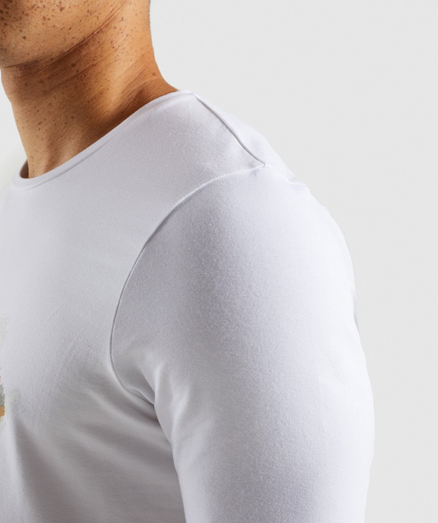 Gymshark Etch T-Shirt - White 6