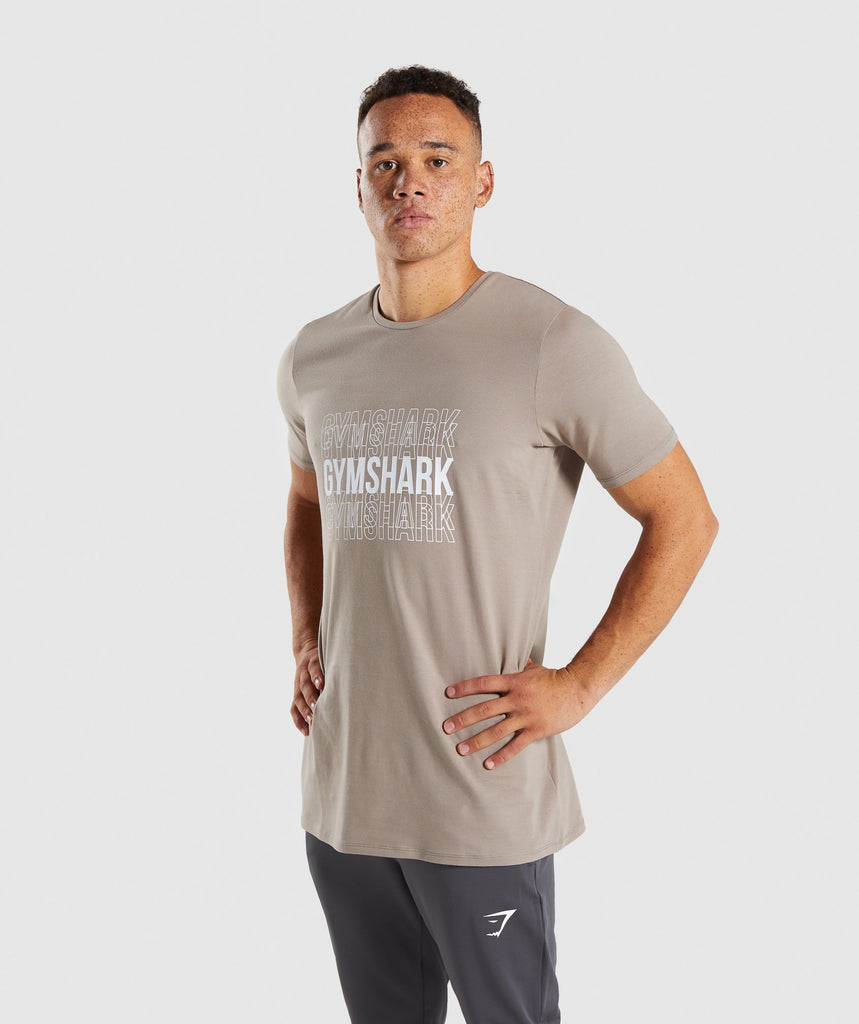 Gymshark Haze T-Shirt - Driftwood Brown 1