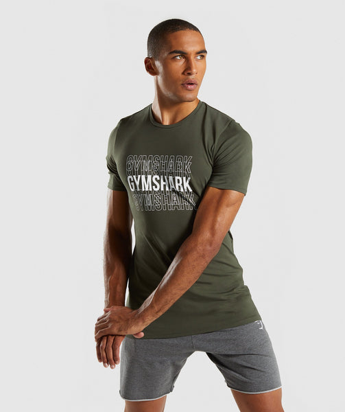 Gymshark Haze T-Shirt - Woodland Green 4