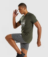 Gymshark Haze T-Shirt - Woodland Green 9