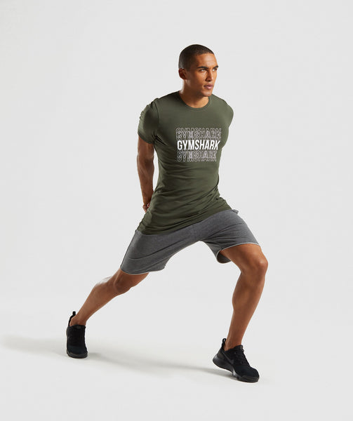 Gymshark Haze T-Shirt - Woodland Green 3