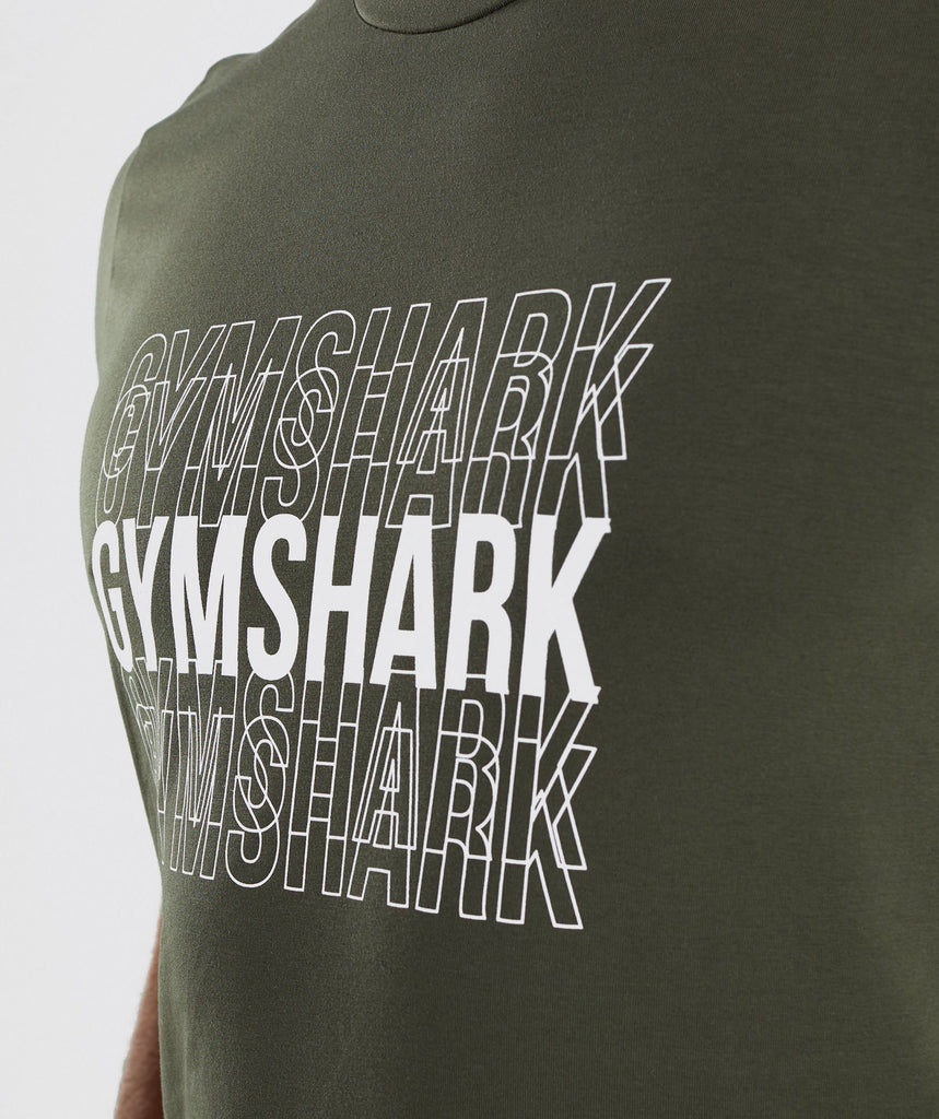 Gymshark Haze T-Shirt - Woodland Green 5