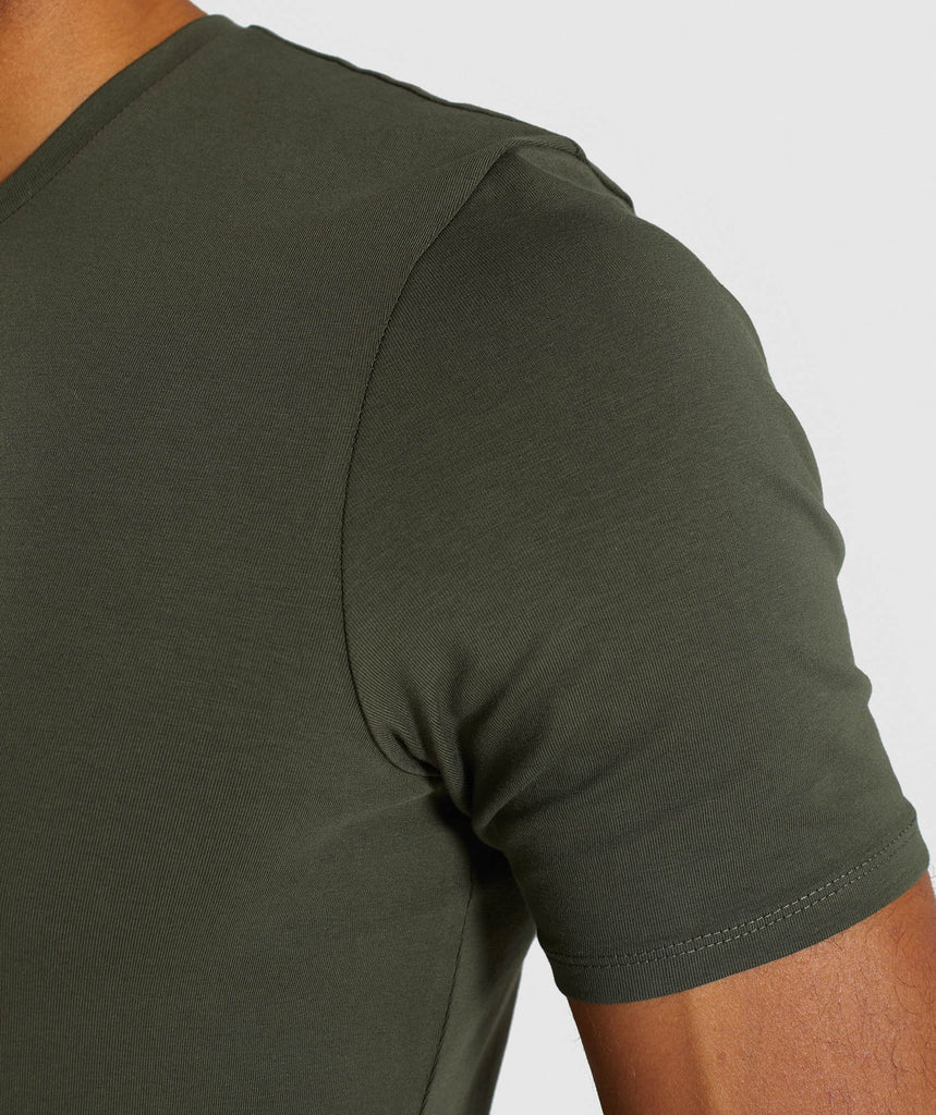 Gymshark Haze T-Shirt - Woodland Green 6