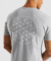 Gymshark Geo T-Shirt - Light Grey Marl 11