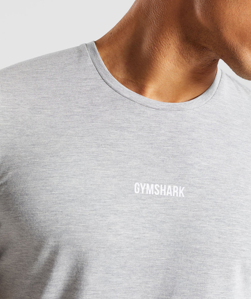 Gymshark Geo T-Shirt - Light Grey Marl 6