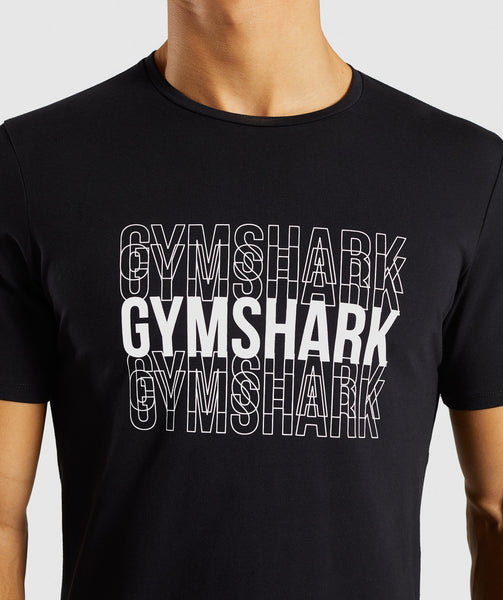 Gymshark Haze T-Shirt - Black 4