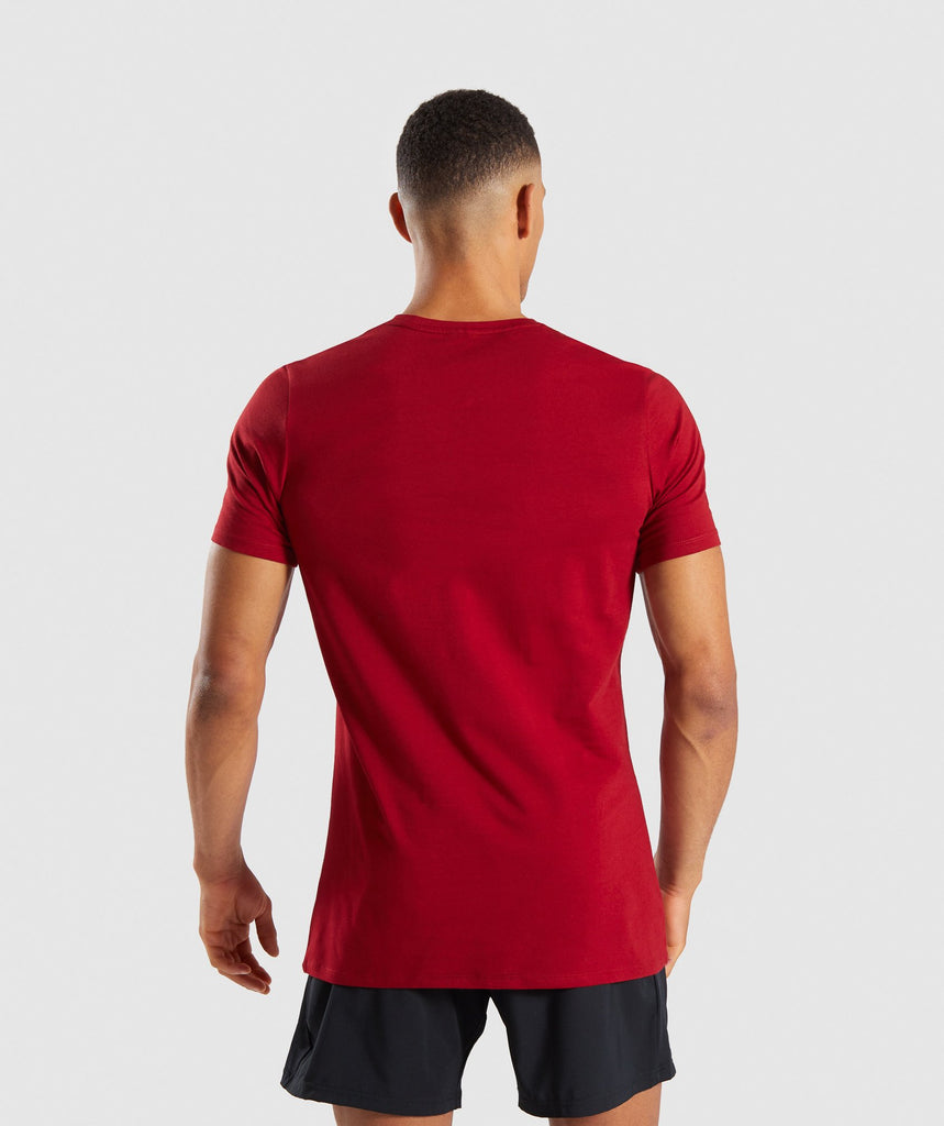 Gymshark Reverse T-Shirt - Full Red 2