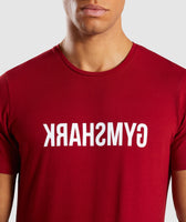 Gymshark Reverse T-Shirt - Full Red 11